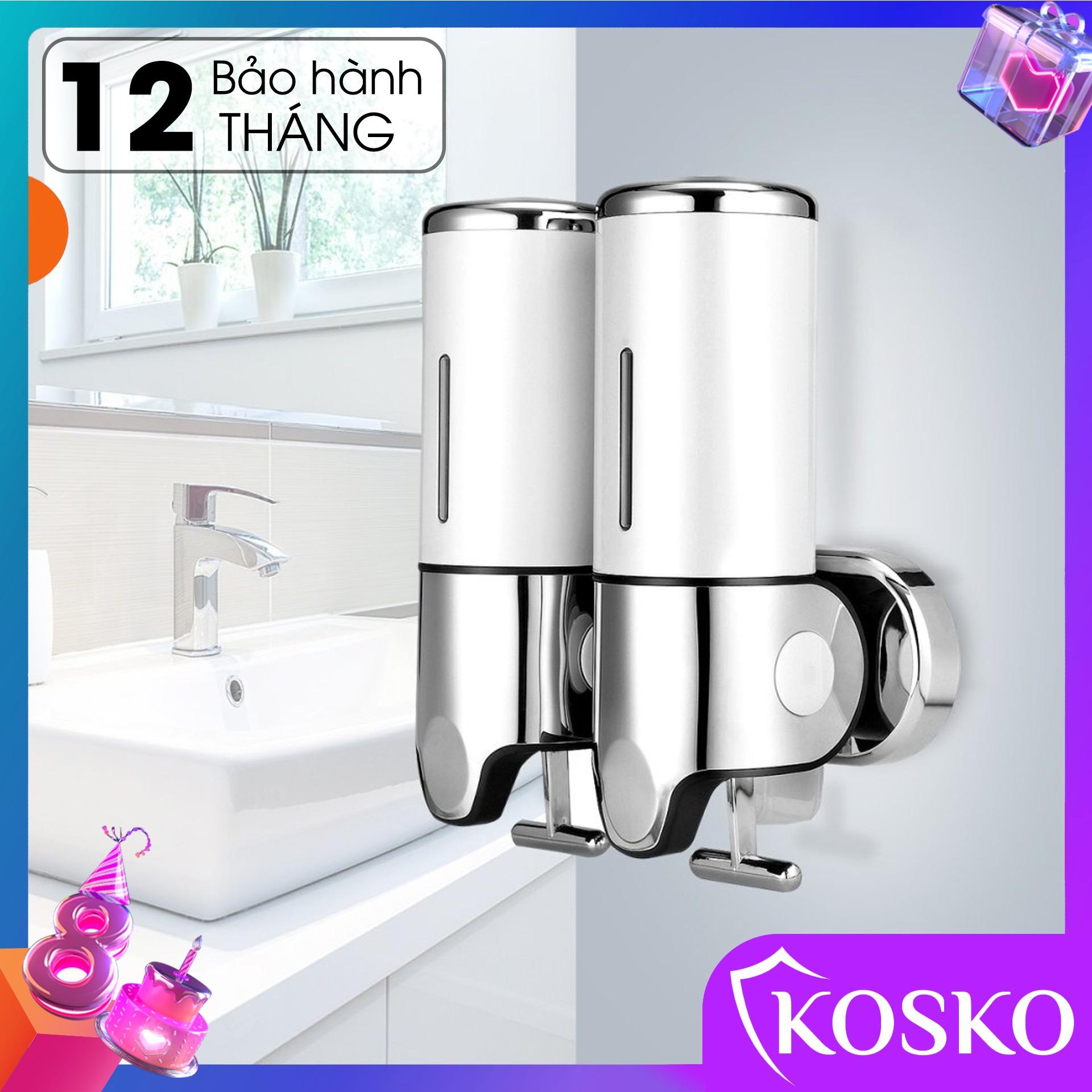 Hộp đựng dầu gội sữa tắm gắn tường KOSKO mã GANGANG KGG-175TĐ Trắng đôi, hộp đựng nước rửa tay lắp đặt dễ dàng - Sử Dụng Tiện Lợi (Bảo hành 12 tháng - 1 đổi 1 trong 15 ngày)