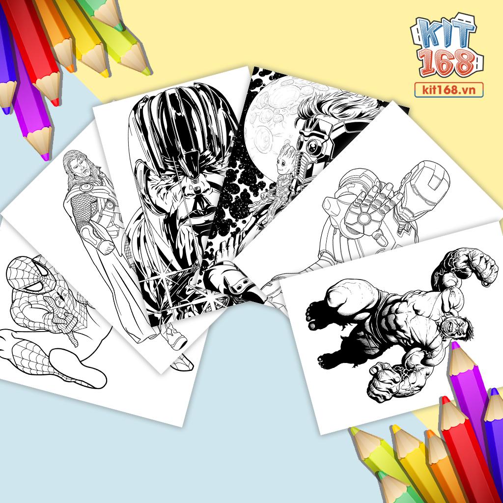 Tranh tô màu Marvel Avengers siêu anh hùng TTM-0007