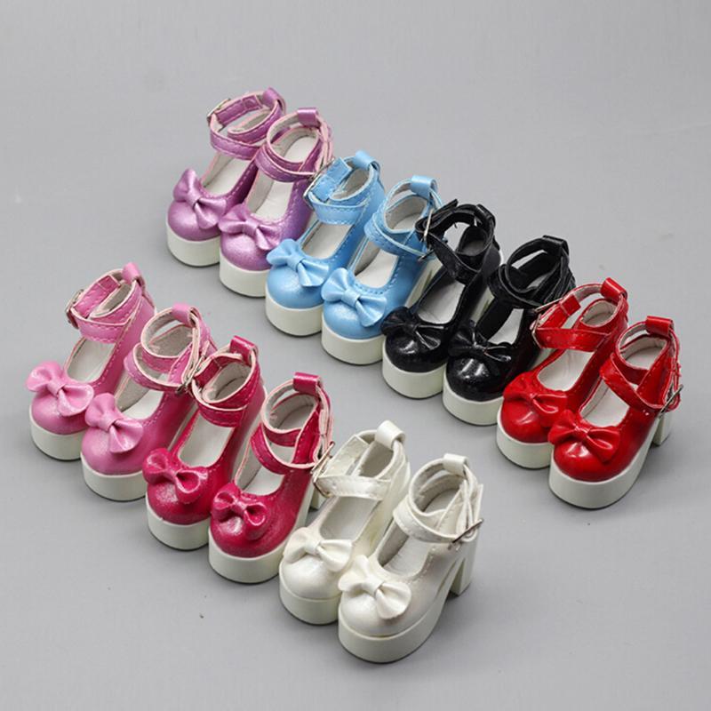 Hình ảnh CHUNCHEN 1 đôi giày cao gót kiểu dáng công chúa dành cho búp bê 1/3 1/4 BJD 60cm SD, quà tặng dành cho búp bê - INTL