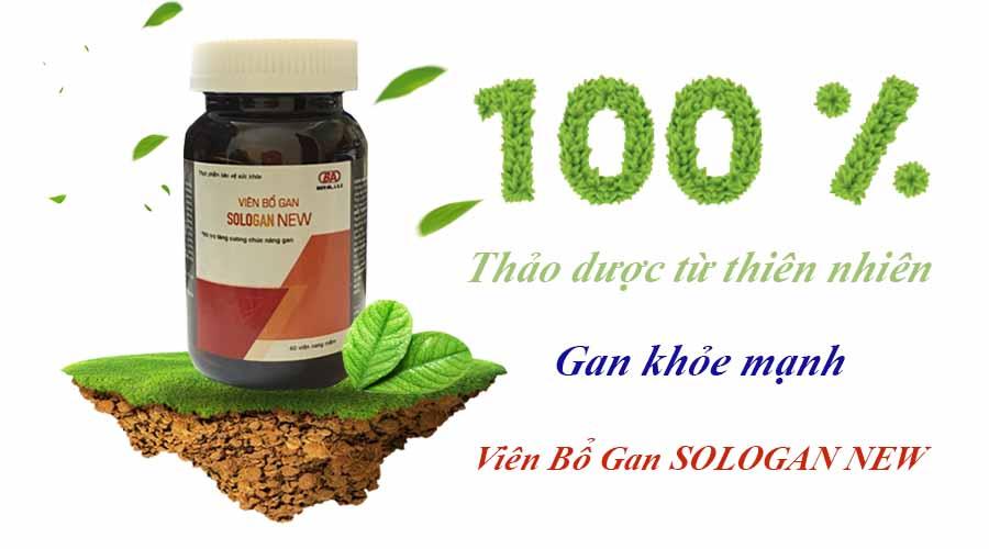 Viên Bổ Gan Sologan New (Hộp 60 Viên) - Sản phẩm của người Việt - cho người Việt. Hỗ trợ giải độc gan - Tăng cường chức năng gan 3