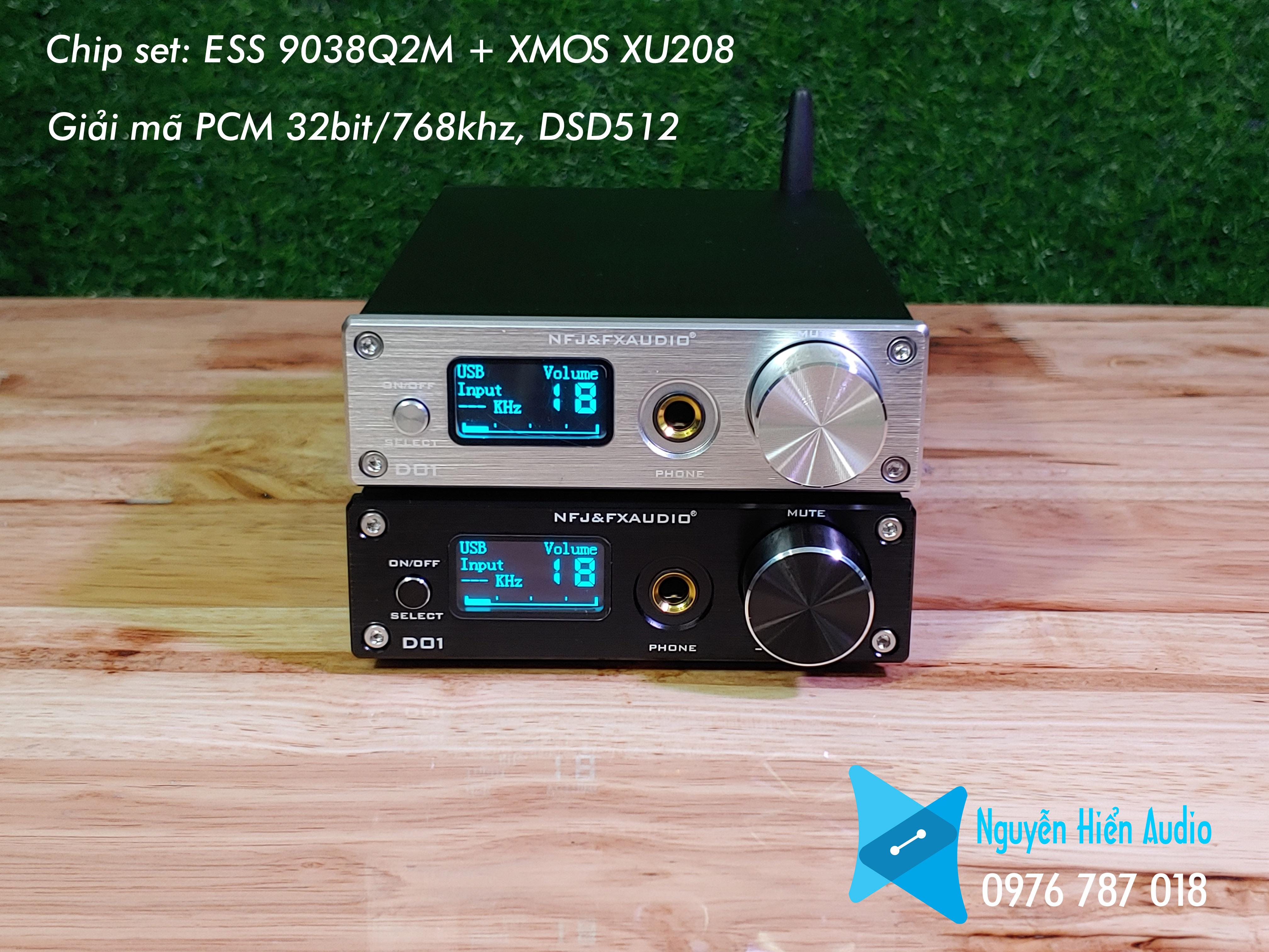 Bộ giải mã DAC FX audio D01 bản nâng cấp hoàn hảo của X7 mới nhất 2021