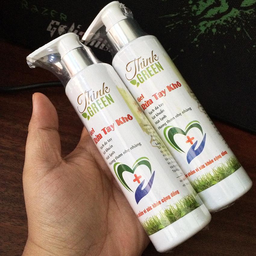[Phòng ngừa Corona ] Dung dịch Gel rửa tay khô ThinkGreen hương thiên nhiên chai xịt 200ml