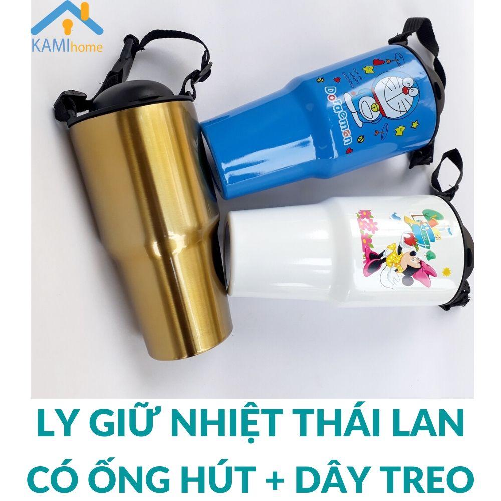 Ly Bình giữ nhiệt Thái Lan 900ml Inox 3 lớp cách nhiệt Kèm Ống hút Haxixishop Cốc uống nước ly coc binh giu nhiet lygiunhiet cocgiunhiet