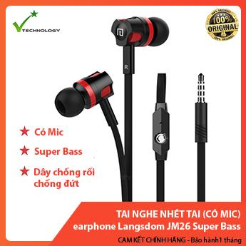Tai nghe nhét tai earphone Langsdom JM26 Super Bass NEW EDITION