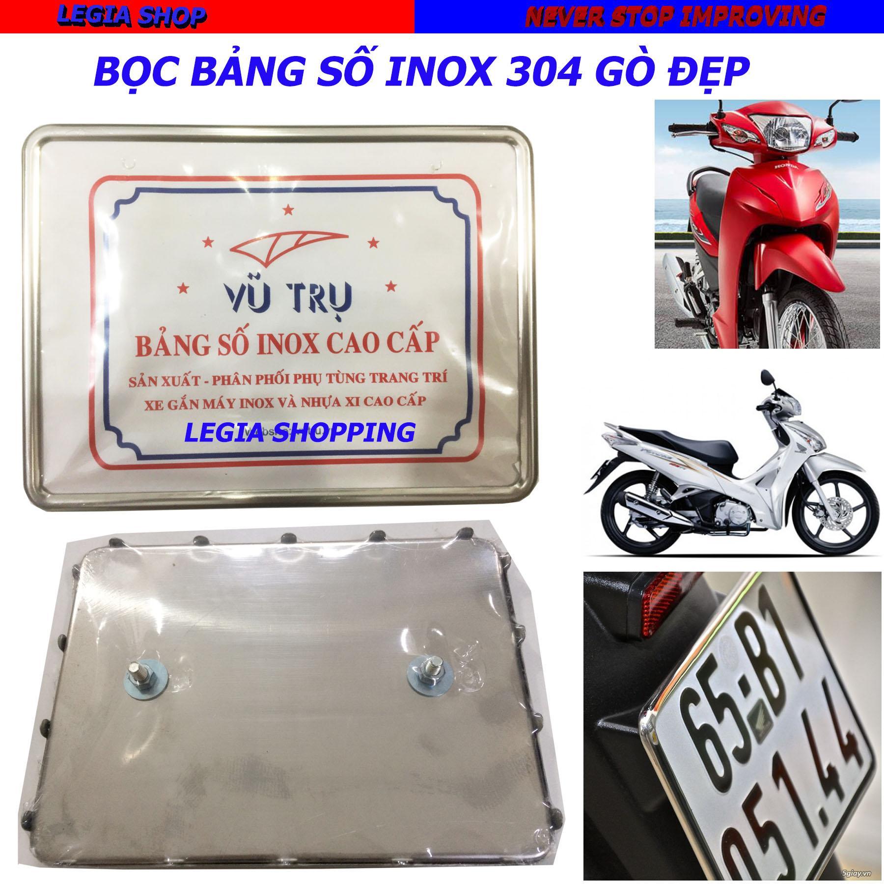 BỌC BẢNG SỐ - KẸP BẢNG SỐ INOX CAO CẤP VT GẮN XE HONDA FUTRUE 125 / RS 100 / WAVE BLADE / RSX 110