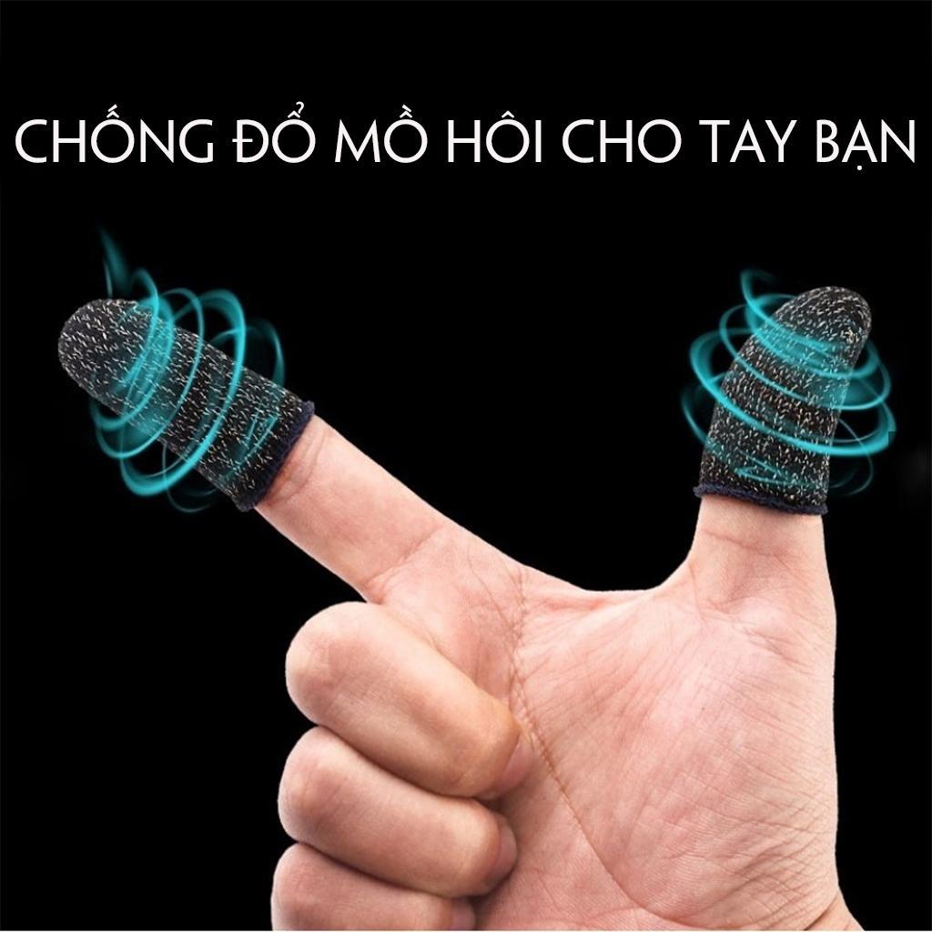 [MẪU MỚI] Bộ bao 2 ngón tay chuyên dụng chơi game mobile chống ra mồ hôi tay, chất liệu sợi carbon thoáng mát, cảm ứng cực nhạy, độ co giãn cao 2
