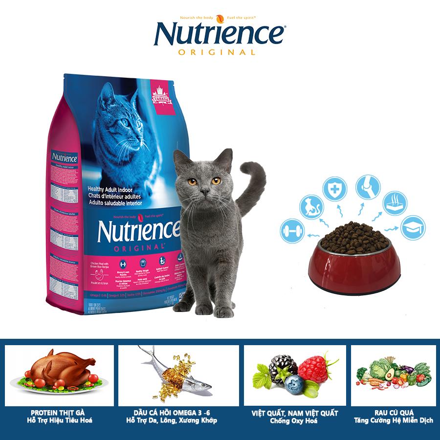 Hình ảnh Thức Ăn Cho Mèo Anh Lông Ngắn Nutrience Original Hỗ Trợ Da Lông Bóng Mượt, Xượng Sụn Cơ Khớp, Búi Lông Hệ Tiêu Hóa, Hệ Miễn Dịch Khỏe Mạnh - Thịt Gà, Rau Củ Và Trái Cây Tự Nhiên