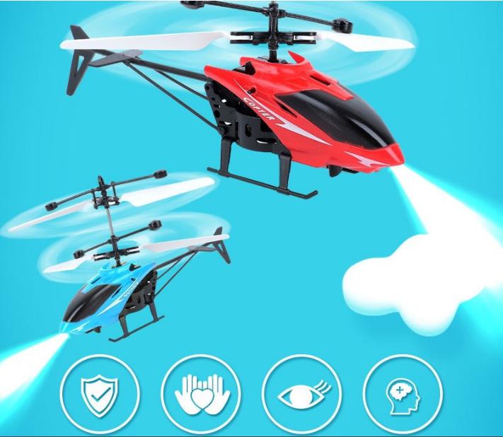 [CÓ VIDEO] Máy bay điều khiển từ xa cảm ứng bằng tay A001 dành cho bé 6