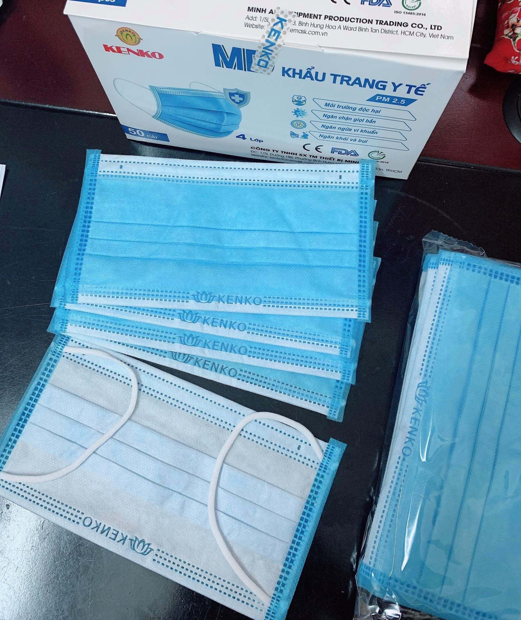 Khẩu trang y tế 4 Lớp Kenko Chuẩn hàng xuất khẩu (1 hộp: 50 cái)   Lazada.vn