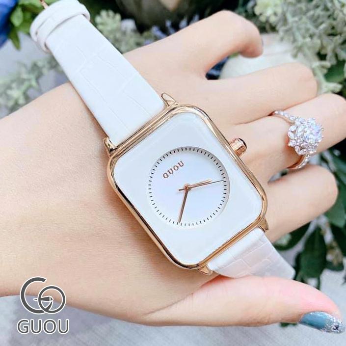 Đồng hồ Nữ GUOU Dây Mềm Mại đeo rất êm tay, Chống Nước Tốt, Bảo Hành Máy 12 Tháng Toàn Quốc 5