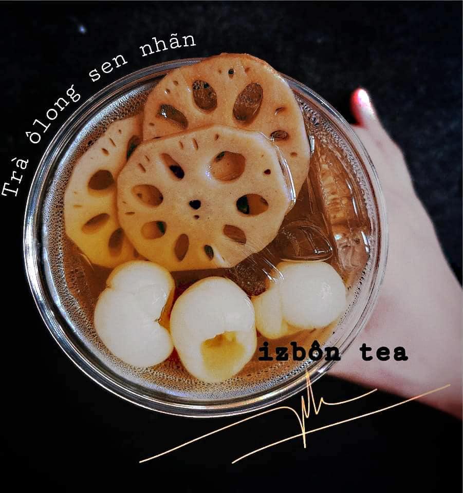 HCM - Izbôn Tea - Evoucher Mua 1 Ly Trà Sen Nhãn Size L Tặng 1 Ly Trà Sữa Bất Kỳ Size M