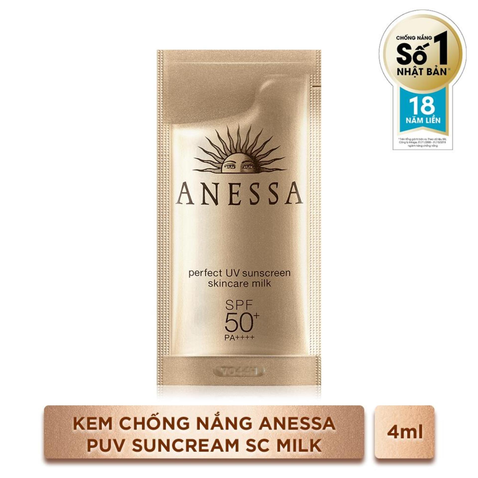 Kem Chống Nắng Anessa Perfect UV Sunscreen Skincare Milk 4ml