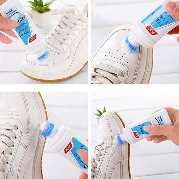 Chai tẩy trắng vệ sinh giày dép, túi xách, quần áo loại lớn 100ml có đầu bán chải làm sạch thuận tiện