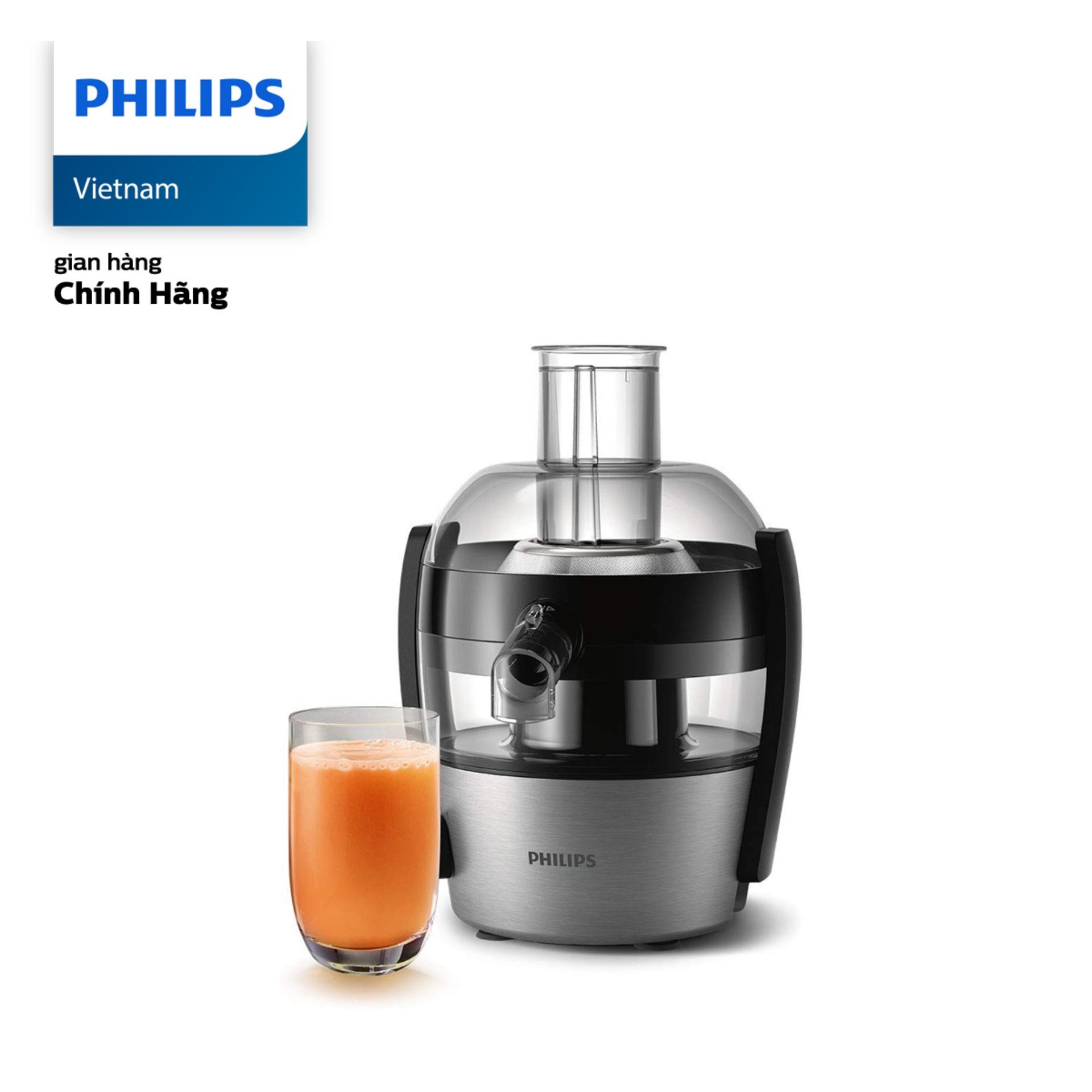 Máy Ép Trái Cây Philips HR1836 (500W) - Hàng phân phối chính hãng - Công nghệ Quick Clean giúp gạt bỏ bã, xơ và vệ sinh dễ dàng; Chức năng ngăn rỉ nước tích hợp trong vòi