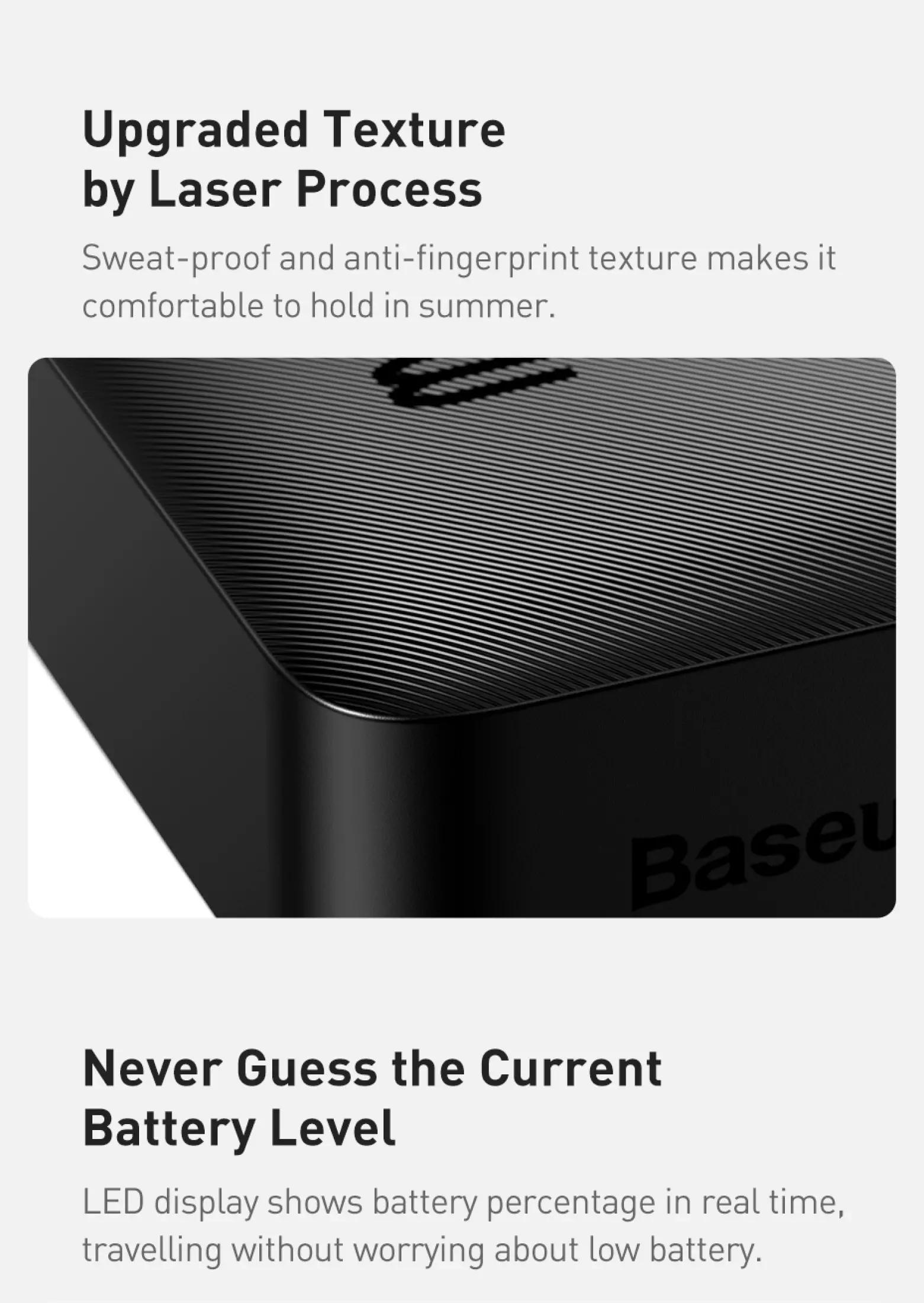 Pin sạc dự phòng Baseus dung lượng 10000mAh công suất 15W hoặc 20W, màn hình LED hiển thị, sạc nhanh QC, PD cho iPhone, Samsung, Xiaomi,....-Phân phối chính hãng tại Baseus Việt Nam 8