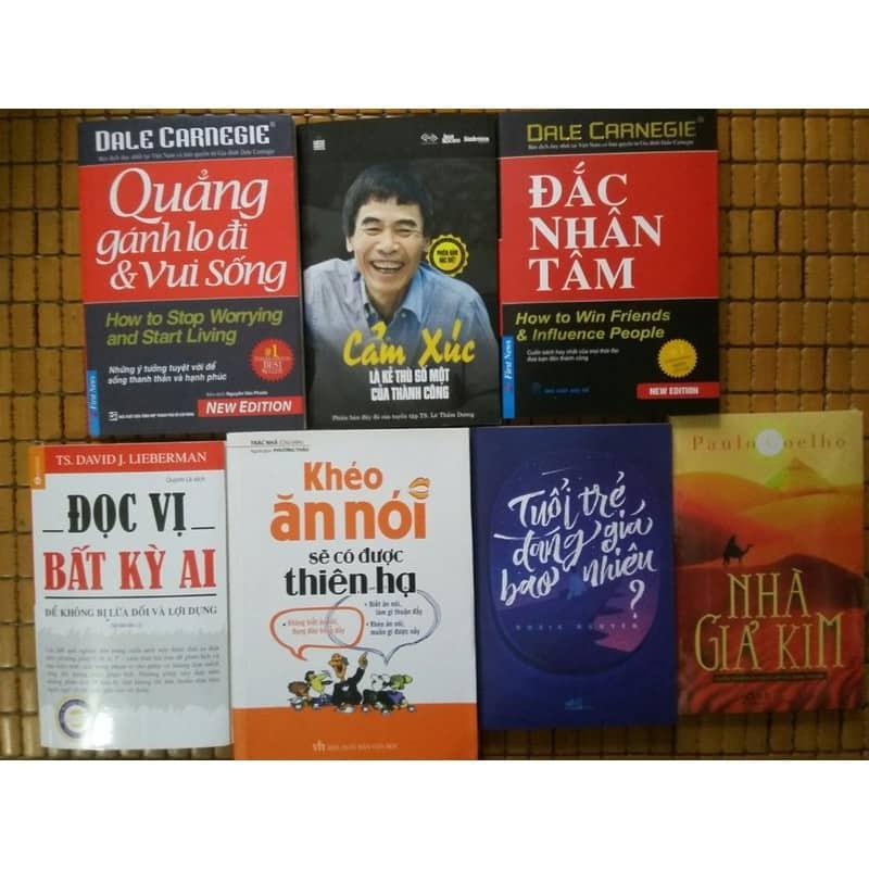 Combo 7 cuốn: Nhà Giả Kim - Tuổi Trẻ Đáng Giá Bao Nhiêu - Khéo Ăn Nói Sẽ Có Được Thiên Hạ - Đọc Vị Bất Kỳ Ai - Quẳng Gánh Lo Đi Và Vui Sống - Cảm Xúc Là Kẻ Thù Số Một Của Thành Công - Đắc Nhân Tâm