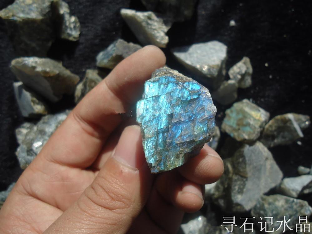 Natural Flash Labradorite Crystal Healing Bulk Tumbled Lucky Stone Specimen Gift