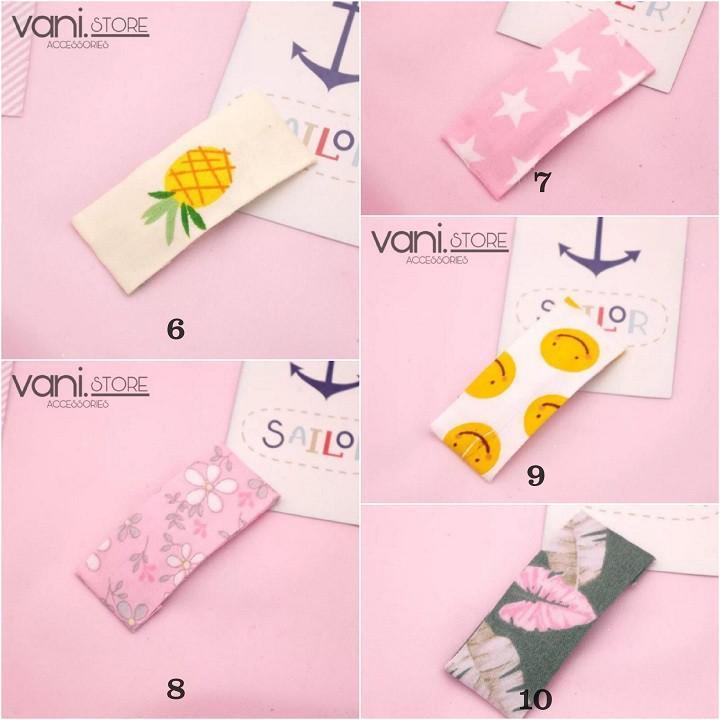 [10 MẪU] Kẹp Tóc Thêu Vải Nhiêu Hình Handmade Hàn Quốc - VANI STORE