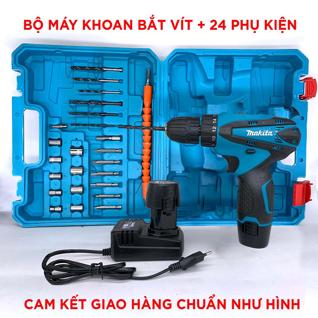 Máy khoan pin Makita 12V 3 chức năng - Máy bắt vít , máy khoan tường ,  khoan gỗ , kim loại - Bảo hành 6 tháng - BeeCost