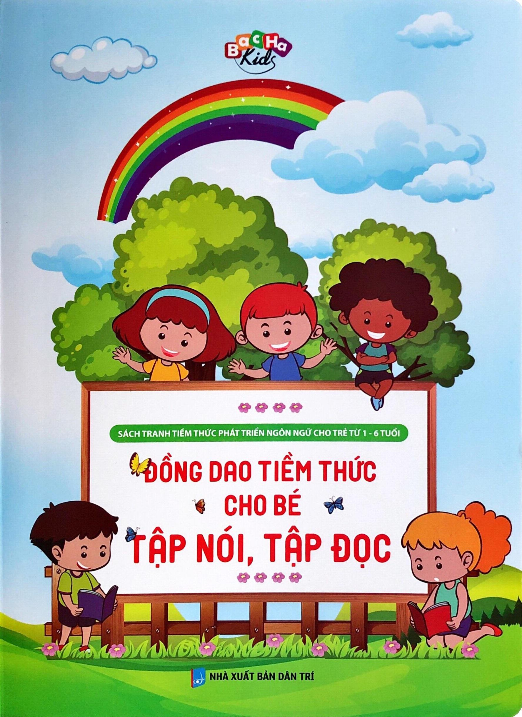 Sách - Đồng Dao Tiềm Thức Cho Bé Tập Nói, Tập Đọc (Sách Tranh Tiềm Thức từ 1-6 tuổi)