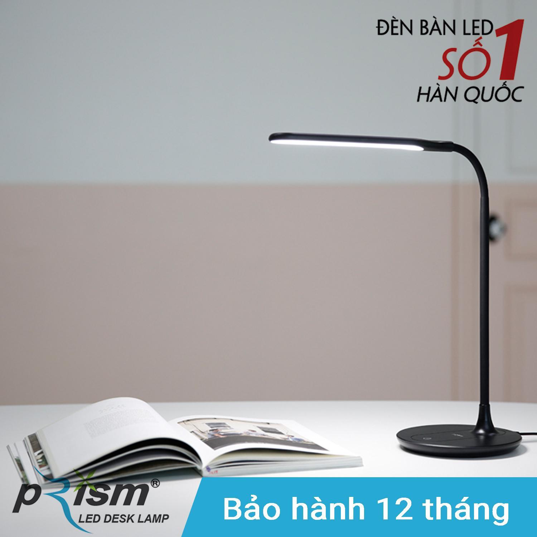 Đèn bàn học LED PRISM Hàn Quốc PL-250BK công suất 6W ánh sáng trắng chống cận bảo vệ mắt (Đen)