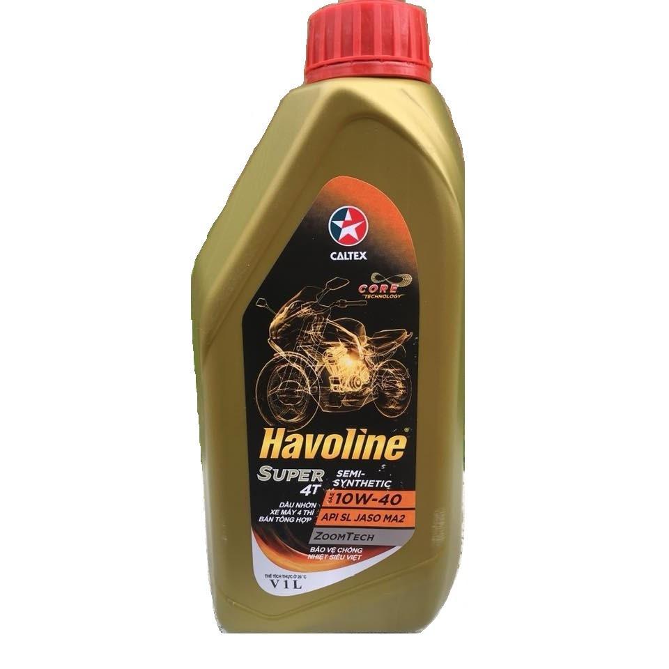 Bộ nhớt xe tay ga Caltex Havoline Matic 10W40 0.8L và dung dich làm sạch hệ thống nhiên liệu xăng Caltex TCP Techron
