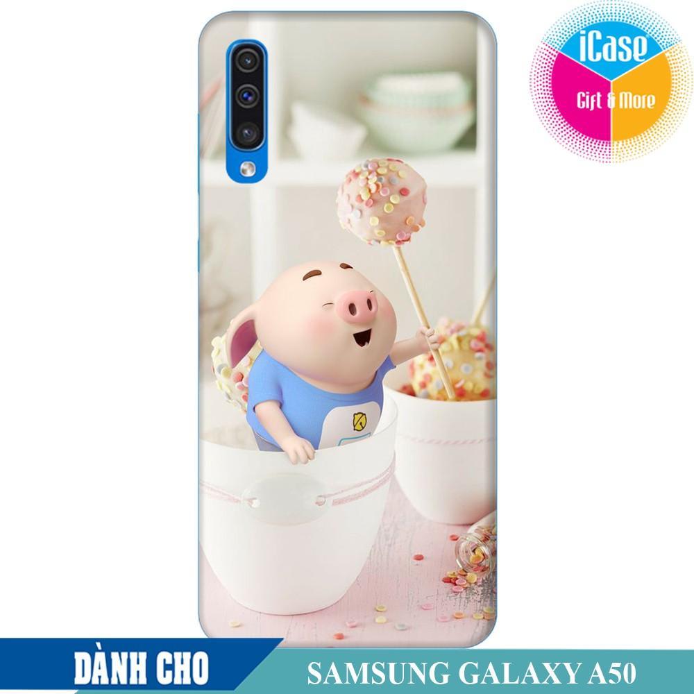Ốp lưng nhựa dẻo dành cho Samsung Galaxy A50 in hình Heo Con Lông Vũ
