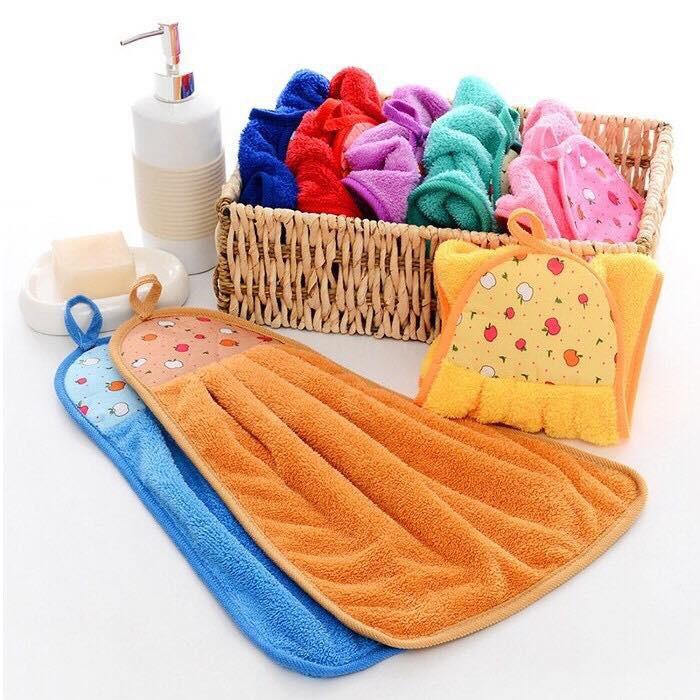 Hình ảnh Khăn lau tay nhà bếp chất vải cotton mềm mại siêu thấm