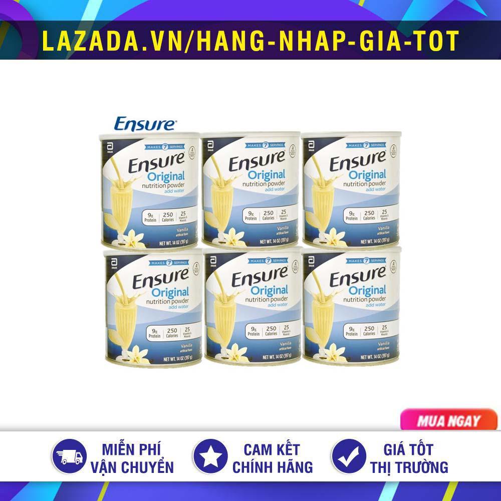[HCM][Mẫu mới DATE 2023] Lốc 6 lon sữa bột ensure original nutrition powder 397G