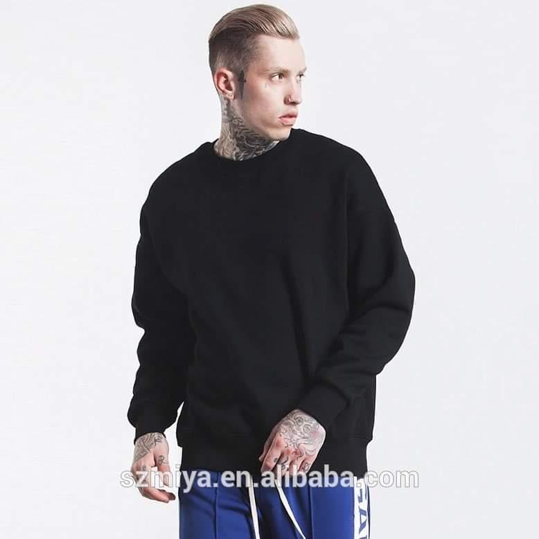 Hình ảnh Áo Sweater Thu Đông Trơn Nam Nữ Oversize Thời Trang Trẻ Trung Năng Động