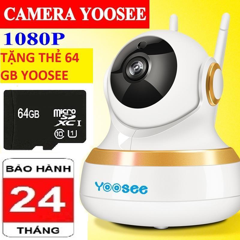 (BH 24 tháng cả máy lẫn thẻ-TẶNG KÈM THẺ 64GB),Camera yoosee 3 râu new 100 mới nhất,hình ảnh full HD,đàm thoại 2 chiều,lưu trữ video,cảm biến chuyển động