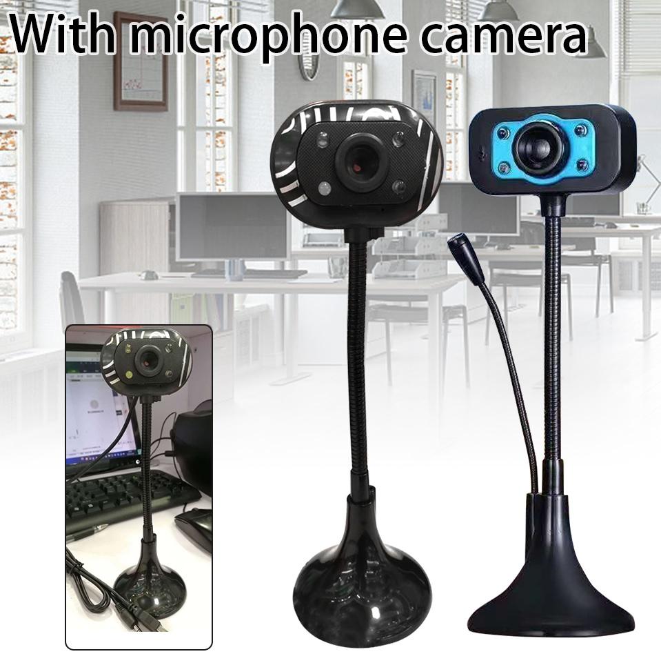 camera webcam Tích hợp Micro dùng cho học trực tuyến, họp online chất lượng hình ảnh HD720P và FHD 1080P có đèn LED trợ sáng . kết nối máy tính quan cổng usb . máy tính tự nhận cắm làm chạy không cần cài đặt 2