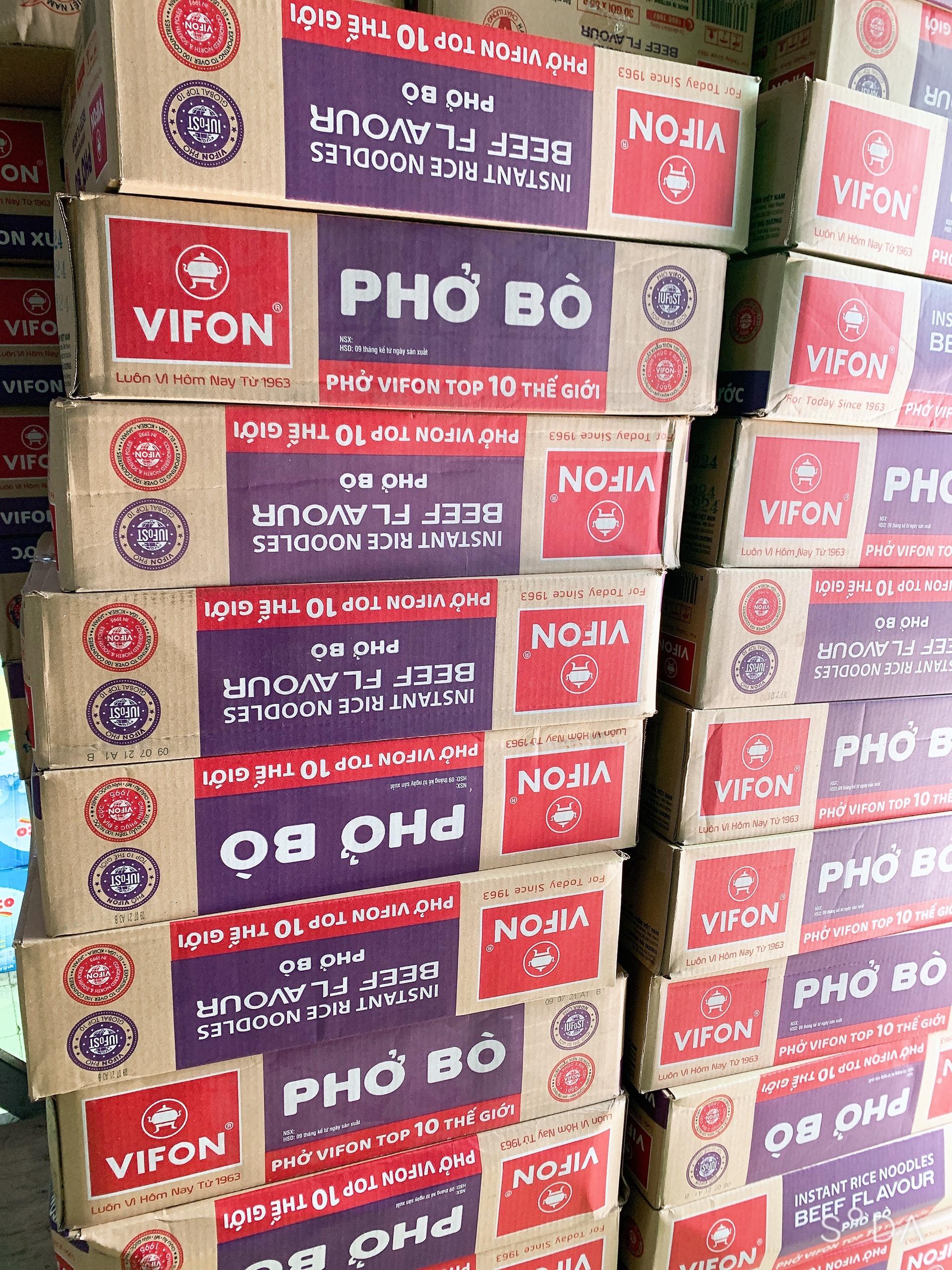 Thùng 30 gói PHỞ BÒ VIFON 65GR