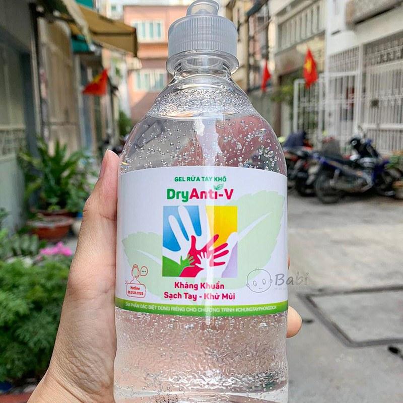 KM CHỐNG DỊCH CORONA  Gel rửa tay khô tinh dầu Trà Xanh và Nha Đam 500ml TAHAKI SHOP