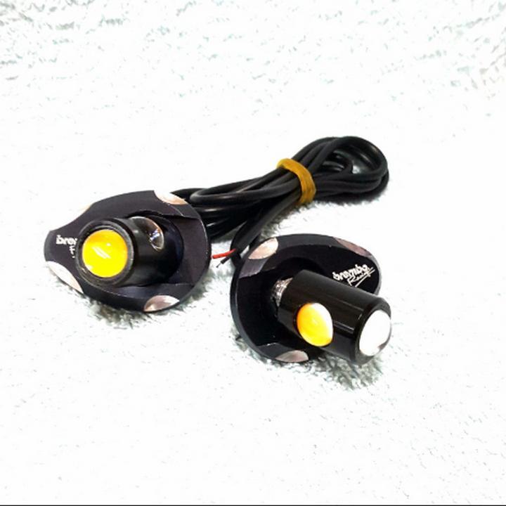 [HOT] Cặp xi nhan led lông đền nhôm cho Exciter 150, Winner 150 (Màu Cam)