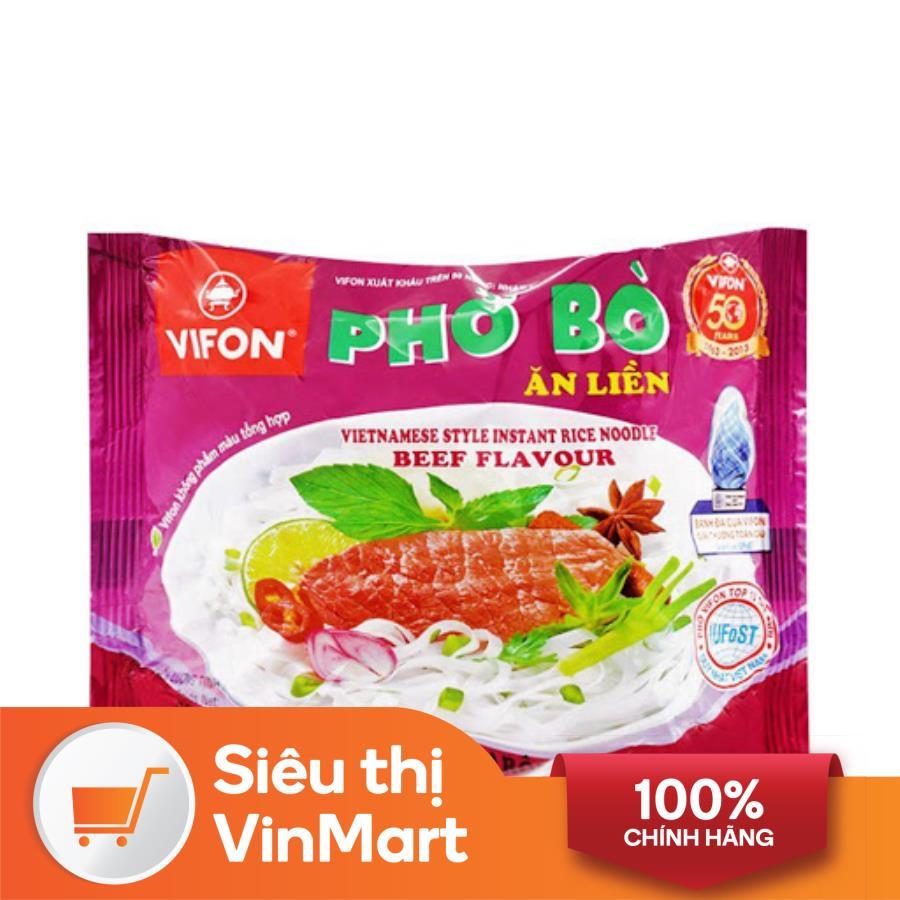 [Siêu thị VinMart] -  Phở thịt bò Vifon gói 65g