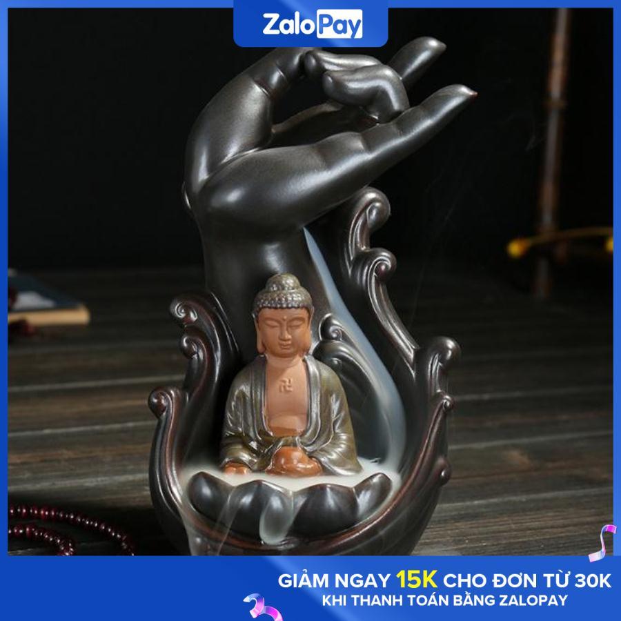 Hình ảnh Tháp khói trầm hương Phật toạ thiền liên hoa - TẶNG 10 VIÊN TRẦM KHÓI NGƯỢC KDR-NC053 Kodoros