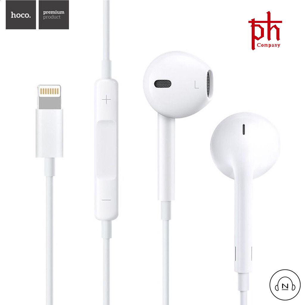 Tai nghe nhét tai Hoco L7 dành cho Iphone 7/8/X - cổng Lightning (Trắng) - Hãng phân phối chính thức