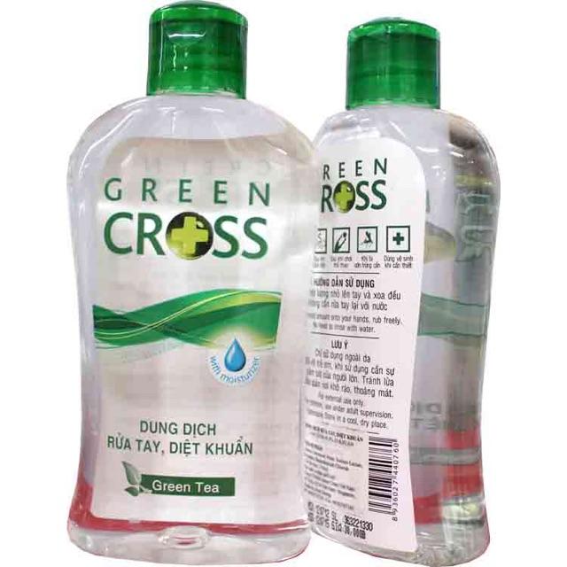 Dung dịch rửa tay khô Green Cross hương ngẫu nhiên chai 100ml