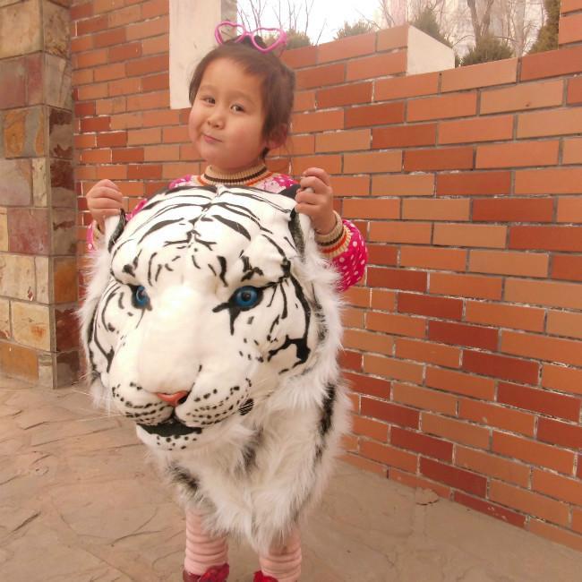 Hình ảnh Balo đầu hổ, Balo đầu sư tử trắng, Balo đầu hổ - Balo Hình Cọp Phá Cách, Hợp Mốt, Đa Dạng Màu Sắc - Bảo Hành Uy Tín 6 Tháng - Mã BH 5