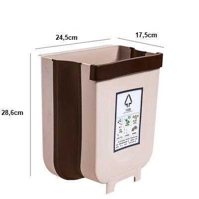 Hình ảnh Thùng rác thông minh gấp gọn - làm bằng nhựa cứng,dùng để treo tủ bếp, sau ghế ô tô,thiết kế gọn nhẹ tiện dụng có đầy đủ size lớn và size mini