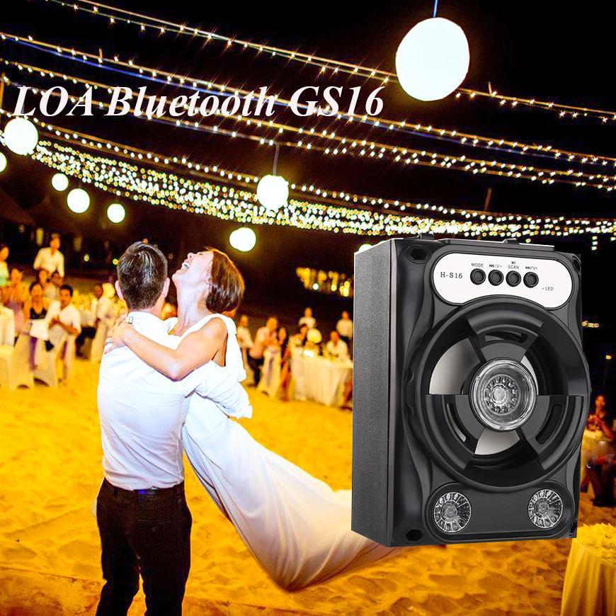 Loa mini 2.0, Loa karaoke vi tính, Loa Bluetooth GS16 siêu đẹp âm siêu hay, Mẫu Mới, Giá Tốt , Sản phẩm bảo hành uy tính 1 đổi 1 - M600