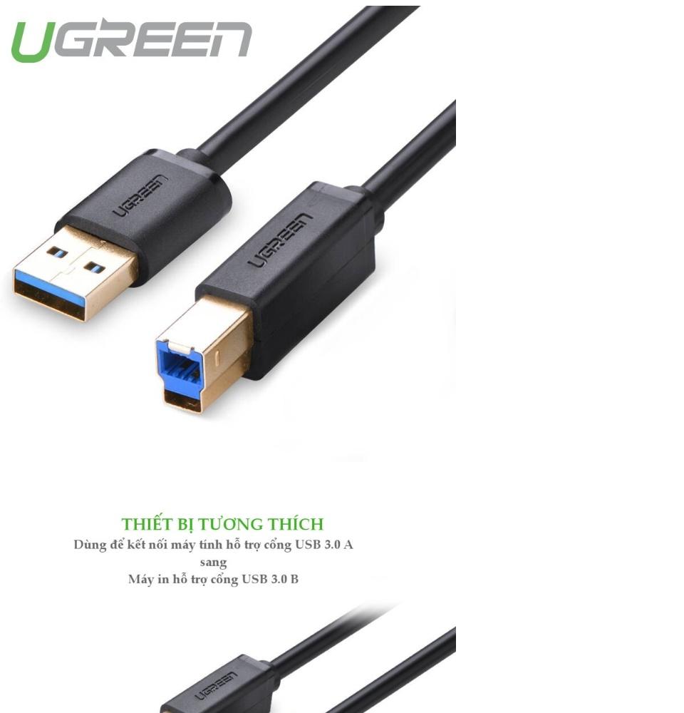 Dây máy in USB 3.0 dài từ 1-2m cho PC và Mac, dài từ 1-2m UGREEN US210 - Hãng phân phối chính thức