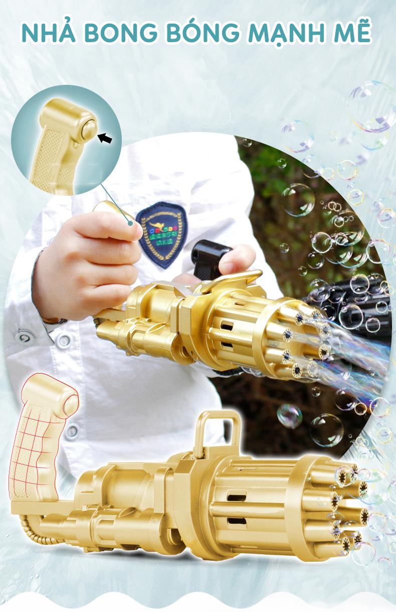 Súng bắn xà phòng 8 nòng [FREE SHIP] Đồ chơi phun bong bóng ngoài trời thổi bọt mạnh mẽ cho bé vui chơi ngoài trời Dũng Dũng 5 1