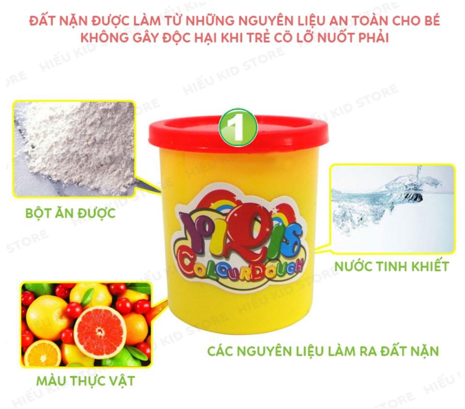 Đồ chơi đất nặn làm kem, đồ chơi thông minh thủ công cho bé thỏa sức sáng tạo, Tặng kèm 5 hộp đất nặn 25k, chất liệu hoàn toàn từ thiên nhiên không độc hại 8