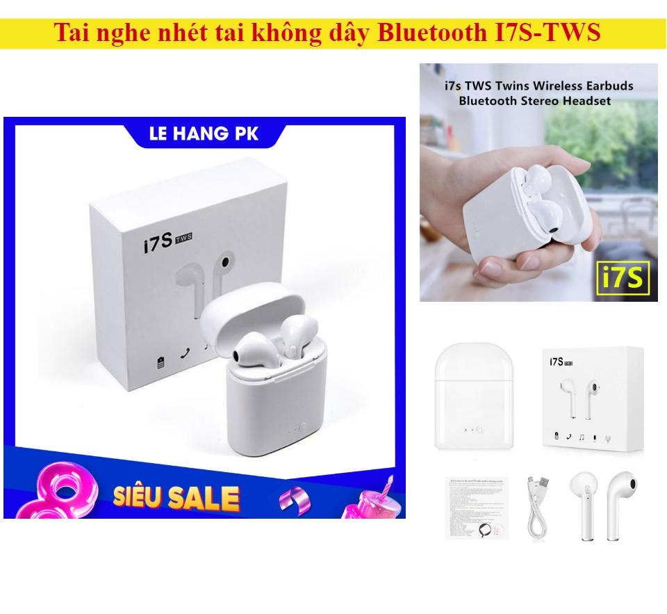 Tai nghe nhét tai không dây Bluetooth I7s thiết kế nhỏ gọn, tiện lợi, âm thanh cực chất thumbnail