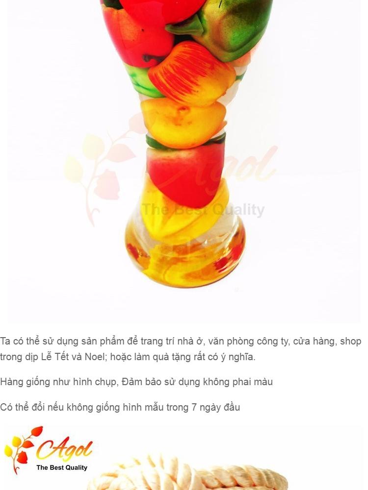 bình TRANG TRÍ trái cây cao tặng bình trang trí trái cây trung - 5