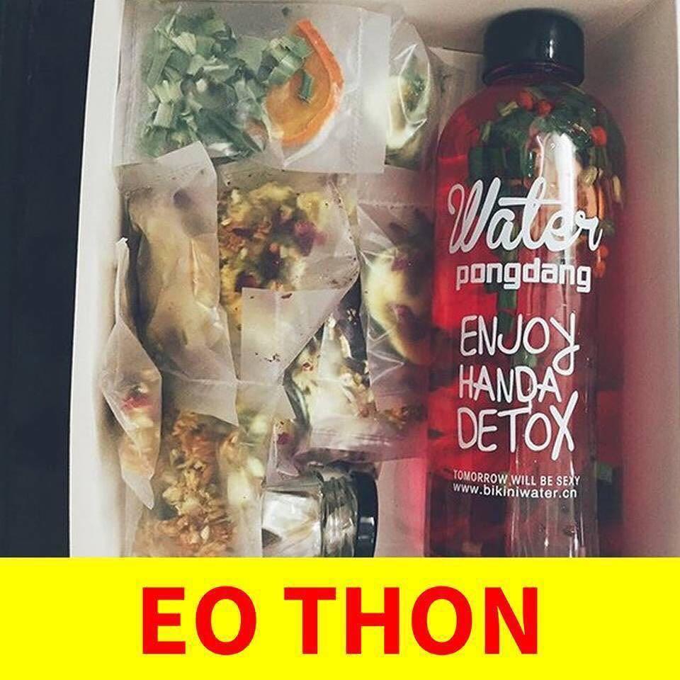 Hộp 30 Set Gói Trà Detox hoa quả sấy khô giảm cân, DETOX KOREA (ảnh thật) tặng kèm bình nhựa 1000ml - PKCB 5