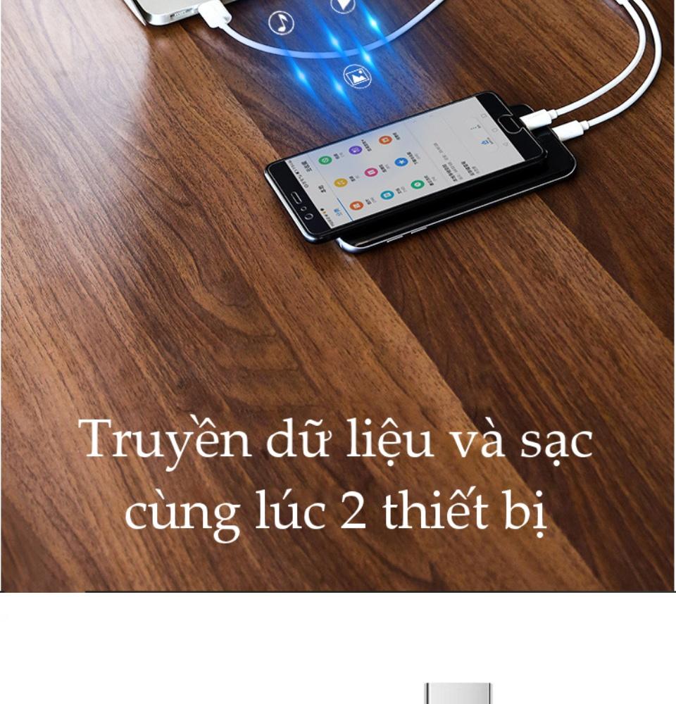 Cáp sạc 2 trong 1 cổng Micro USB và USB-C UGREEN US196 US197 - Hỗ trợ sạc nhanh, dài 1m, tương thích với điện thoại Samsung / Xiaomi / Oppo / Huawei / OnePlus / Redmi / Realme