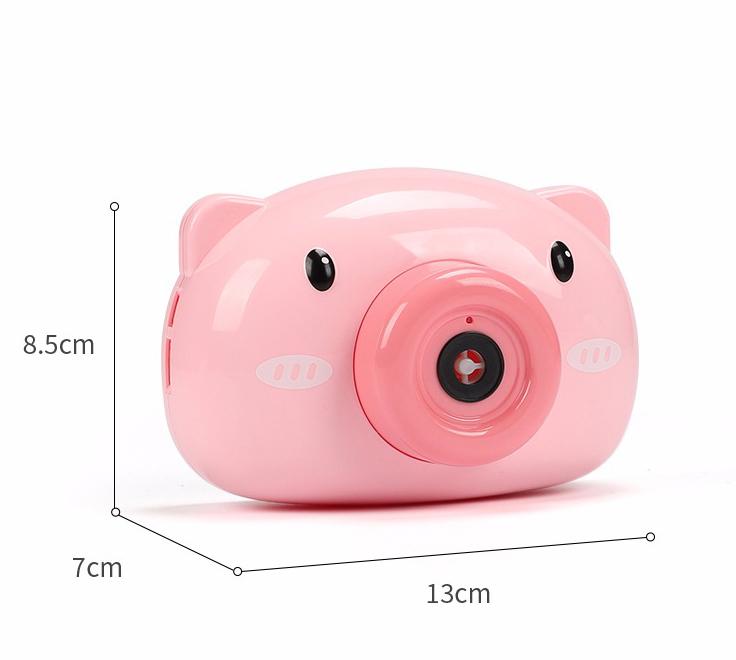 Máy ảnh thổi bong bóng xà phòng quà tặng dễ thương cho bé - may anh thoi bong bong, máy thổi bong bóng heo hồng 5